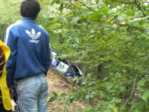 Ведерников разбил свою машину на ралли Ялта 2008