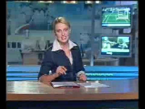 Прикол во время новостей на ТВ