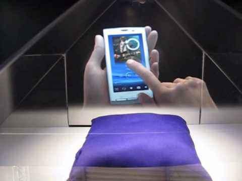 3D-демонстрания телефонов Sony Ericsson